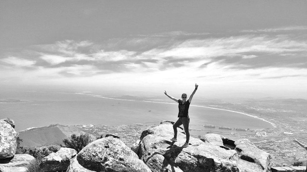 BFoto kracht op de Tafelberg